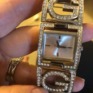 Guess watch with rhinestones!
